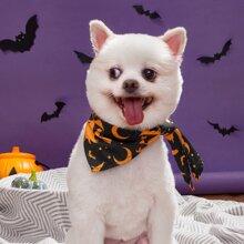 1pc Dog Halloween Pattern Triangle Bib