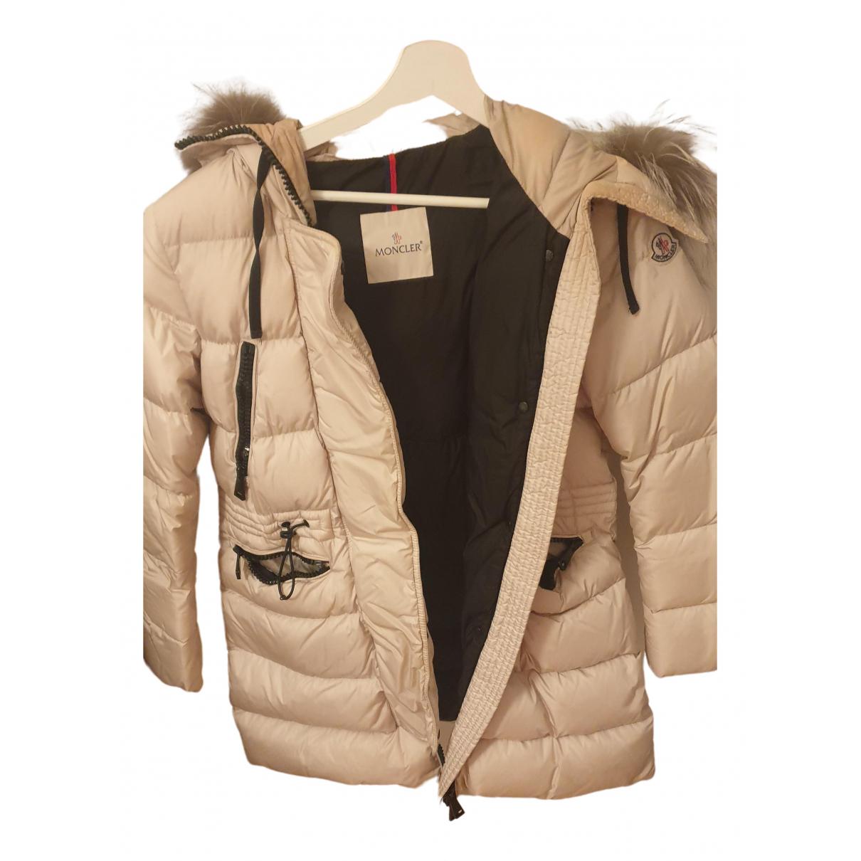 Moncler - Manteau   pour femme en renard - beige