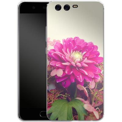 Huawei P10 Silikon Handyhuelle - Pink Dahlia 2 von Joy StClaire