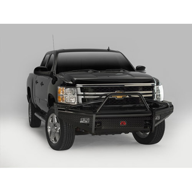 Fab Fours CH08-S2062-1 7.5-10 Chevrolet HD Front Ranch Bumper w/Pre-Runner Guard (2500 - 3500) w/Tow Hooks Bare