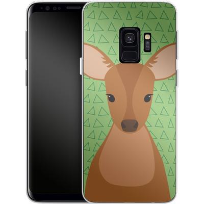 Samsung Galaxy S9 Silikon Handyhuelle - Deer on Green von caseable Designs