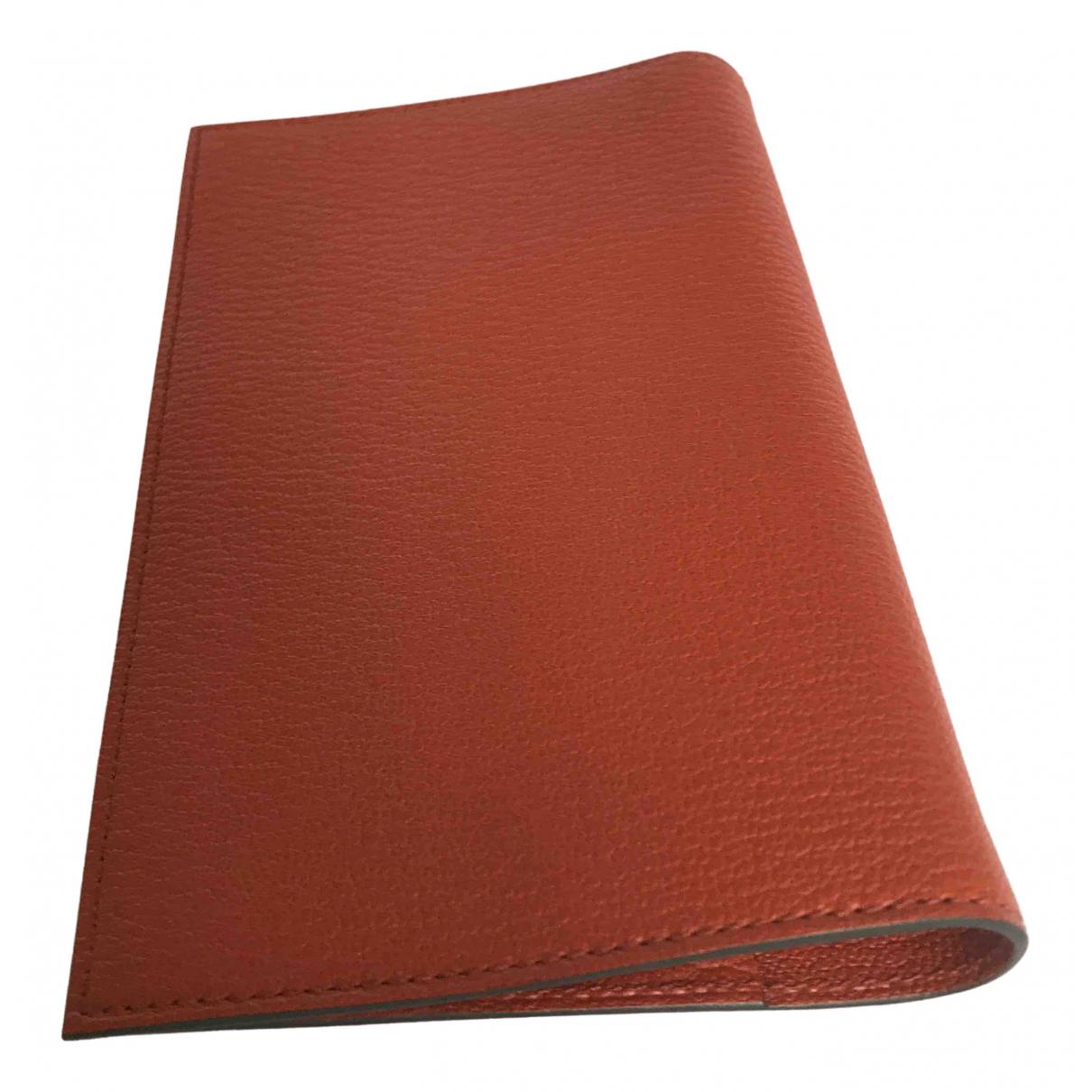 Hermès \N Orange Leather Purses, wallet & cases for Women \N