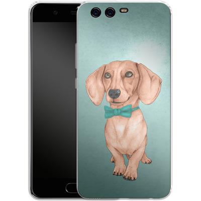 Huawei P10 Silikon Handyhuelle - Dachshund the Wiener Dog von Barruf