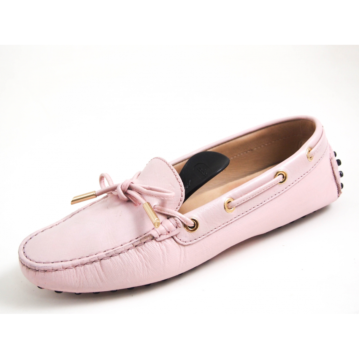 Tod's Gommino Pink Leather Flats for Women 37 EU