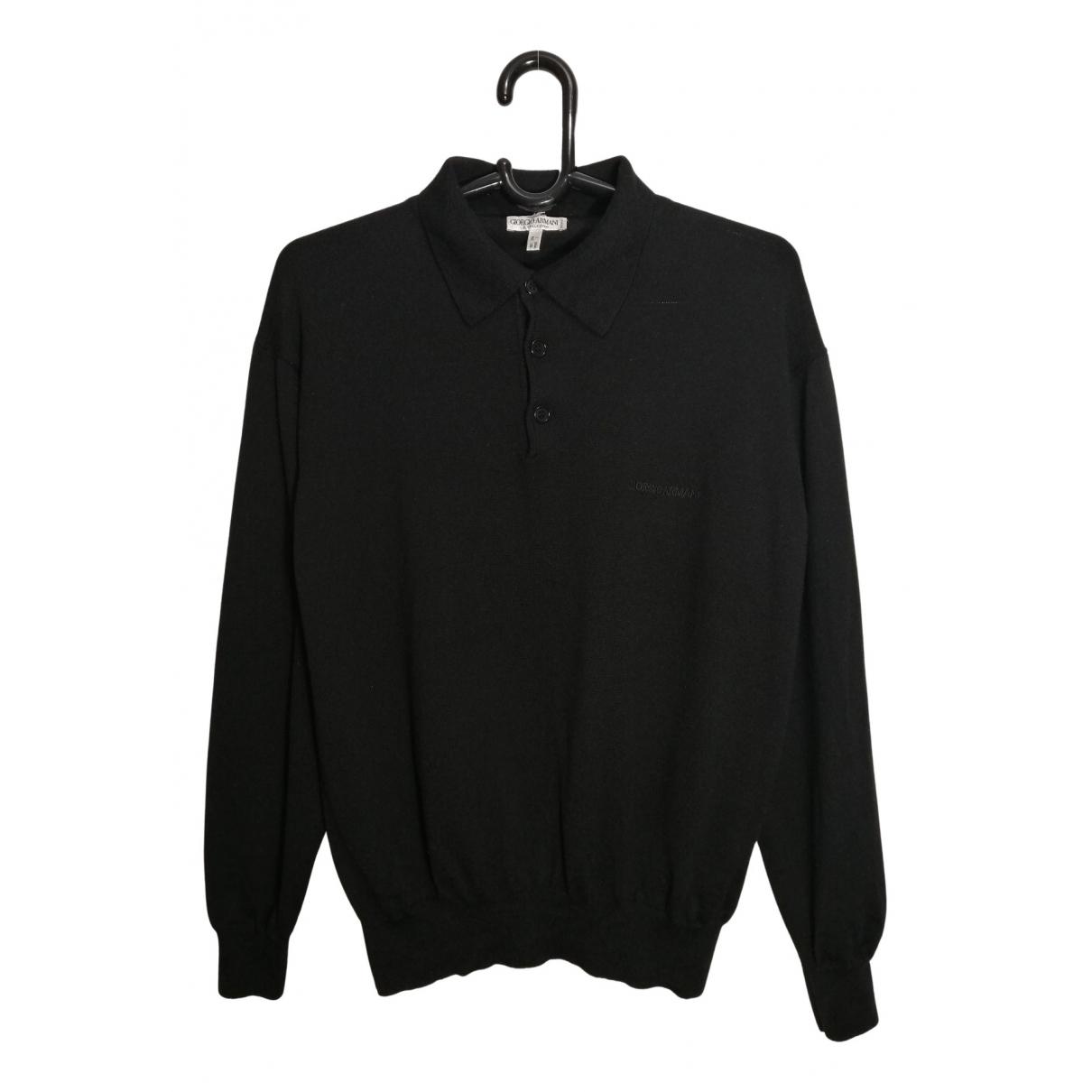 Giorgio Armani - Pulls.Gilets.Sweats   pour homme en laine - noir