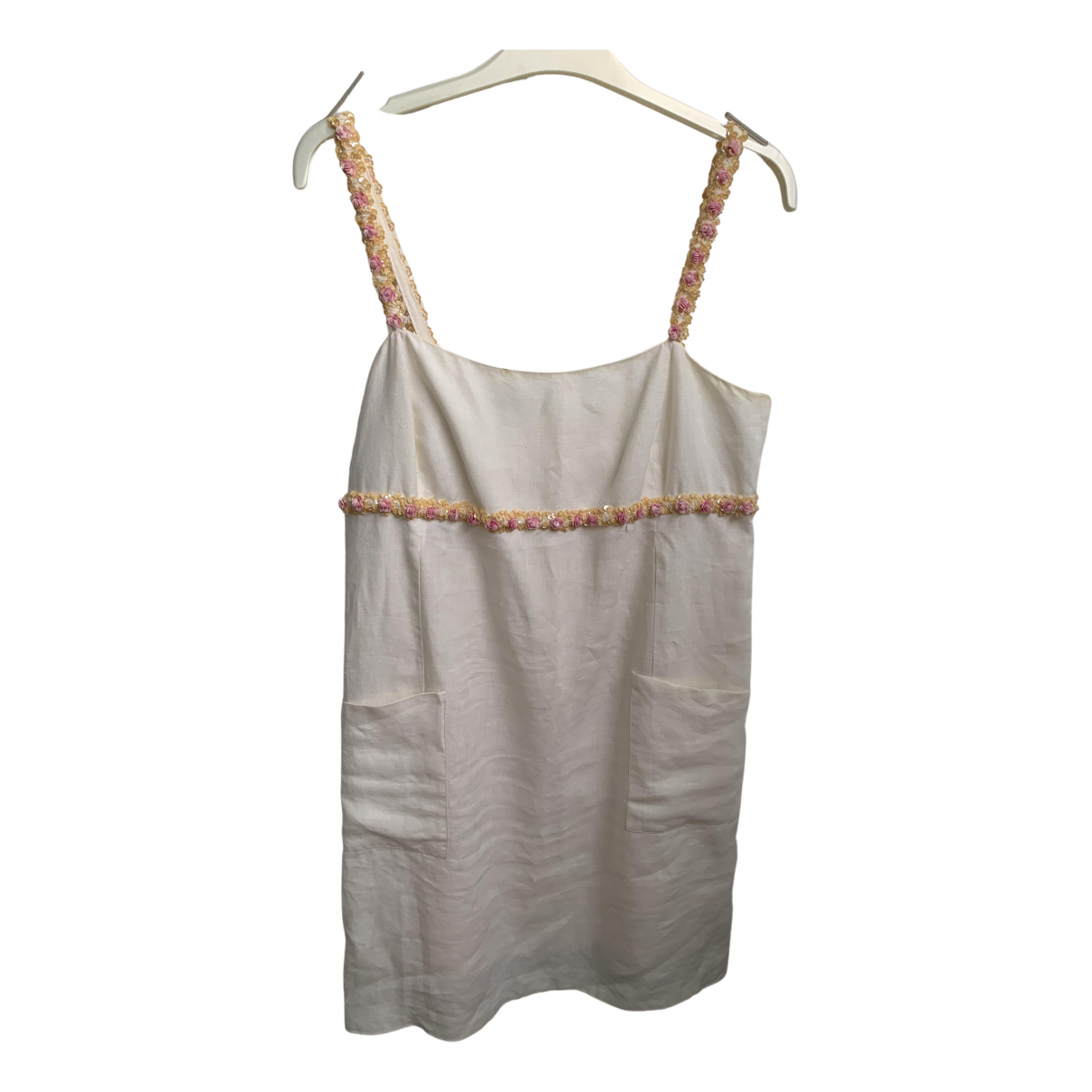 Chanel \N Kleid in  Beige Leinen