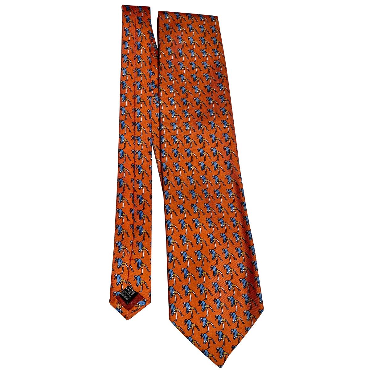 - Cravates   pour homme en soie - orange