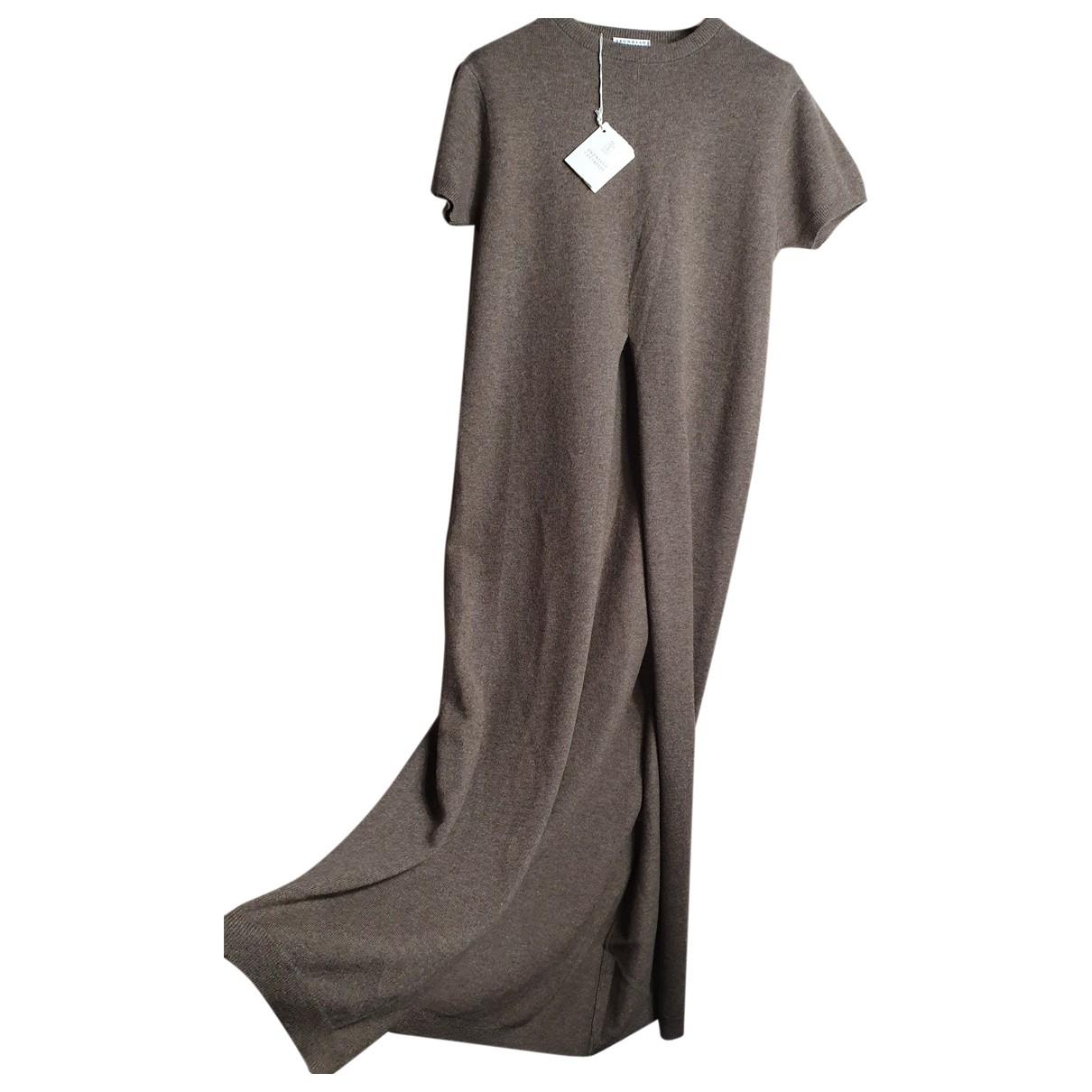 Brunello Cucinelli \N Kleid in  Braun Kaschmir