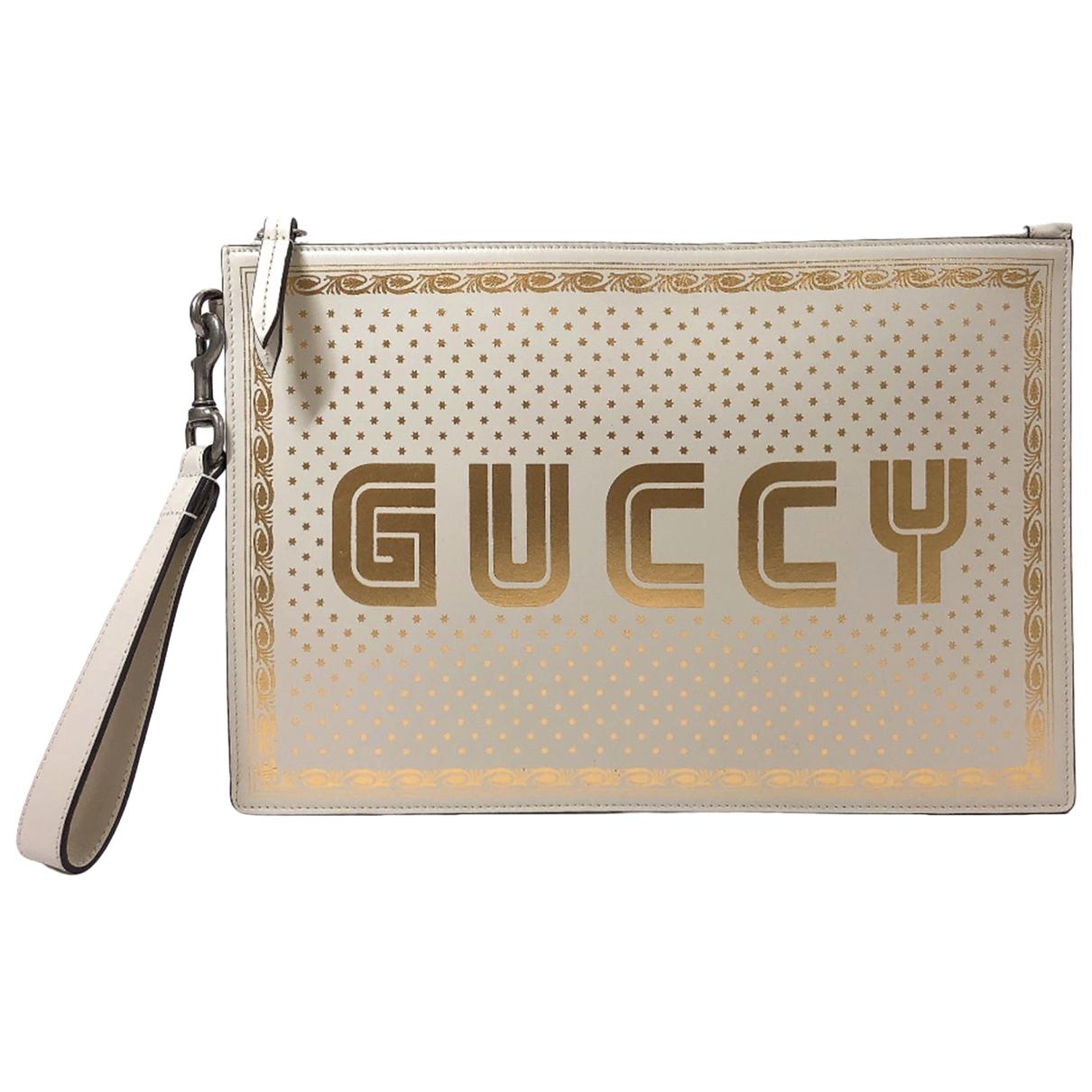 Gucci Guccy clutch Clutch in  Beige Leder