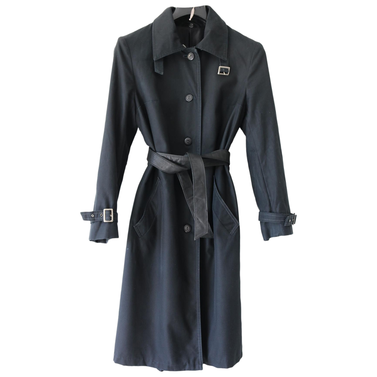 Non Signé / Unsigned \N Black Cotton Trench coat for Women One Size International