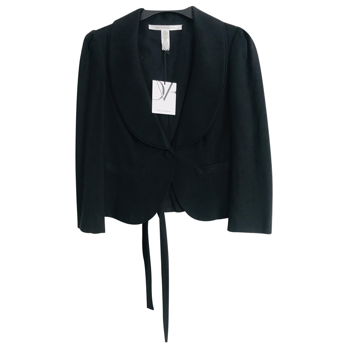 Diane Von Furstenberg \N Black Silk jacket for Women 12 UK