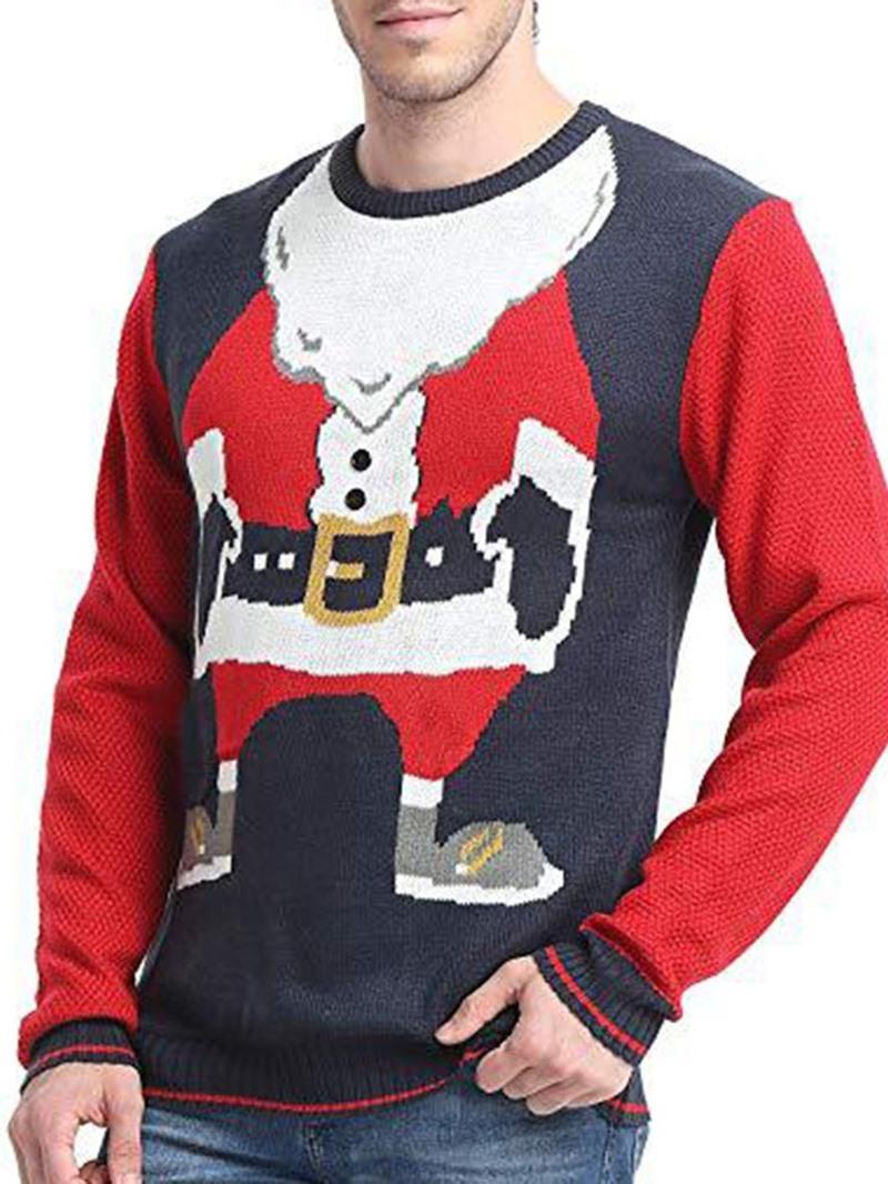 Ericdress Round Neck Standard Cartoon Winter Loose Sweater