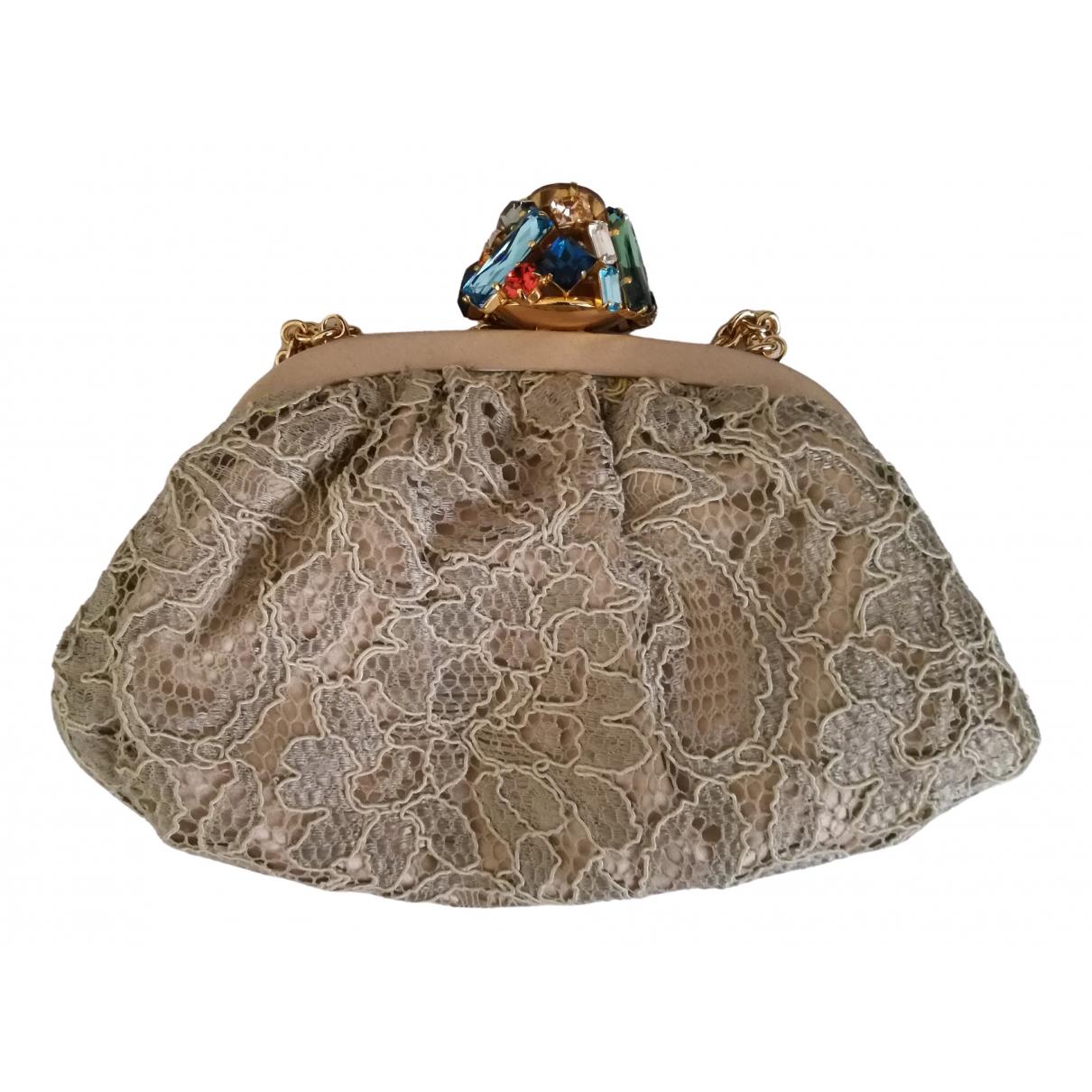 Dolce & Gabbana - Pochette   pour femme en toile - beige