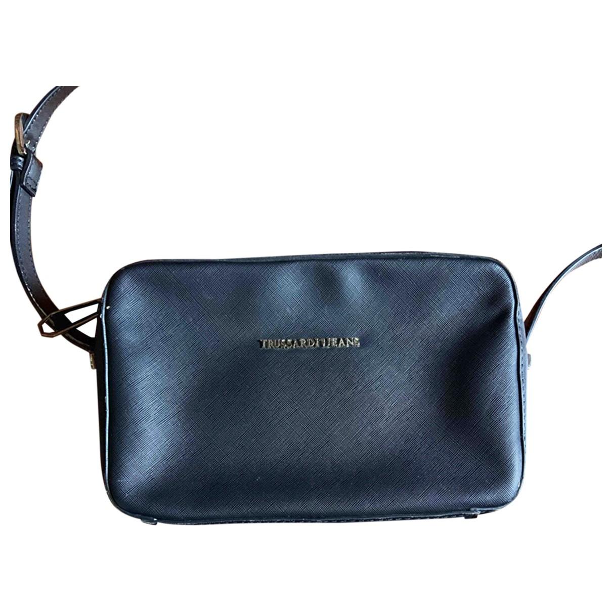 Trussardi Jeans \N Handtasche in  Schwarz Leder