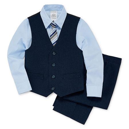 Van Heusen Little & Big Boys 4-pc. Suit Set, 5 , Blue