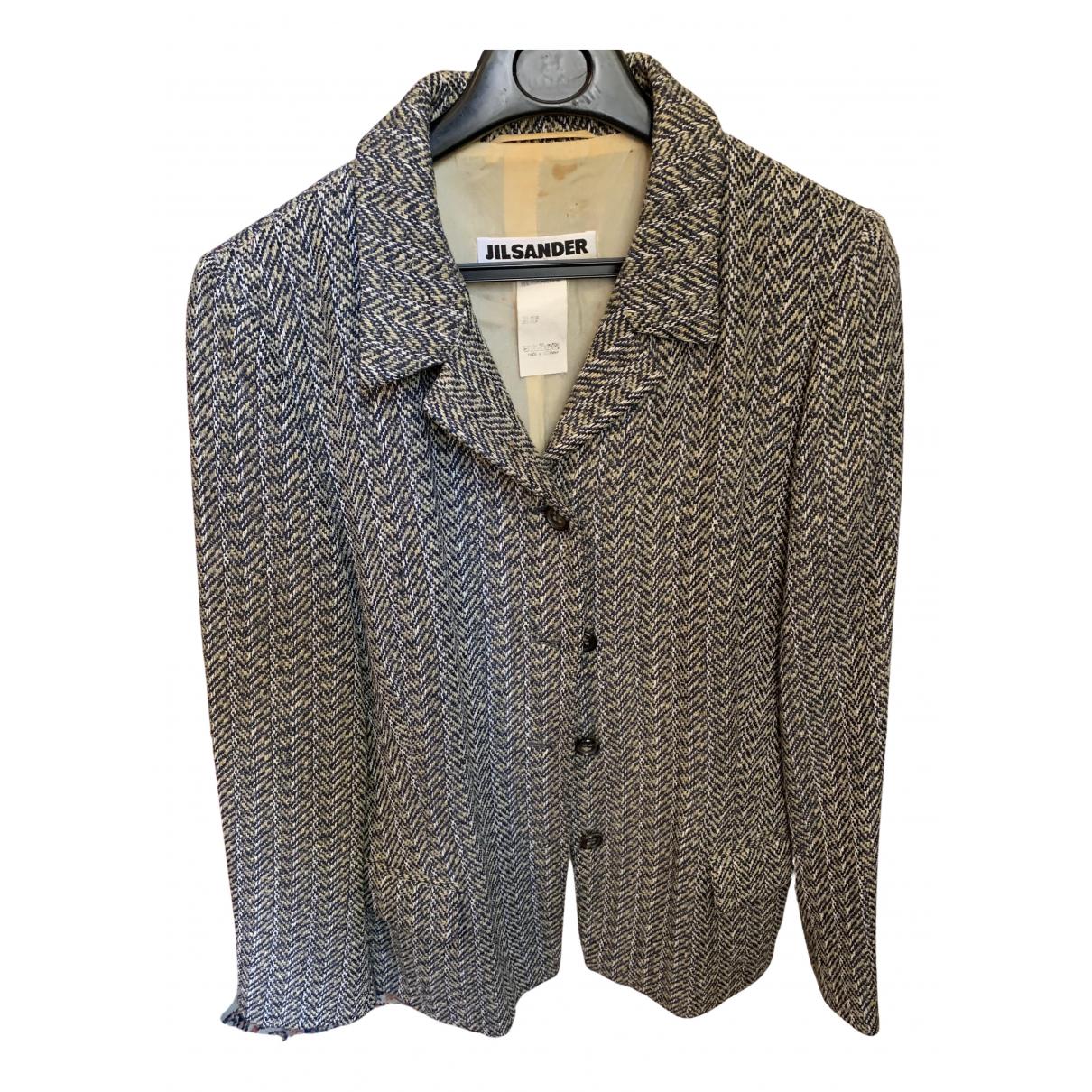 Jil Sander - Veste   pour femme en soie - gris