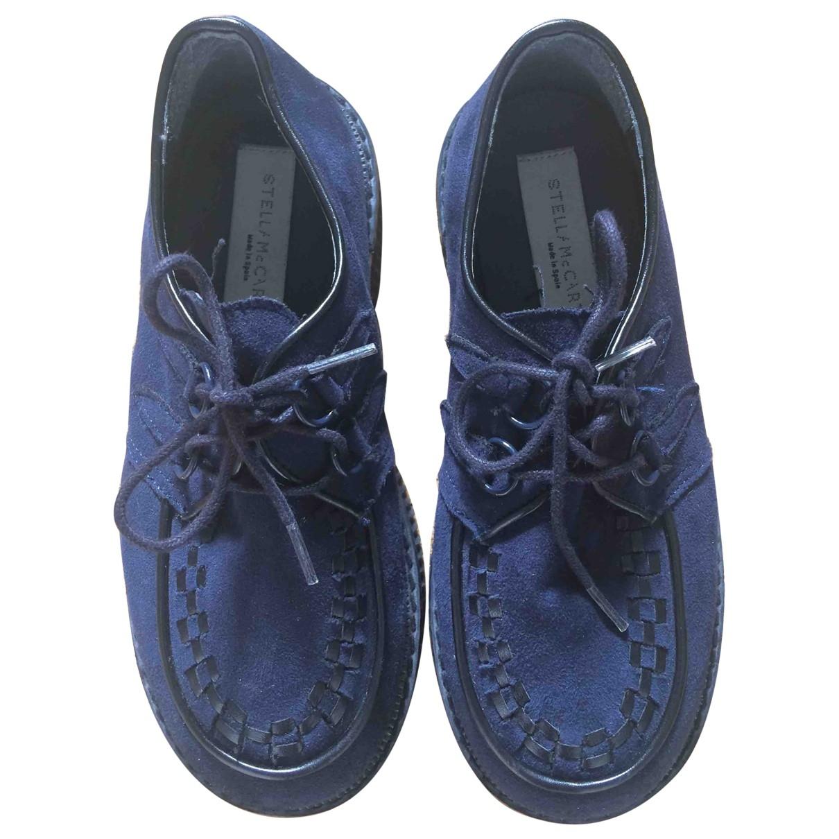 Stella Mccartney - A lacets   pour enfant en suede - bleu