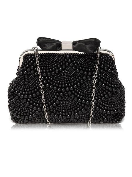Milanoo Evening Clutch Bags Bows Artwork Pearl Kiss Lock Closure Chic Special Occasion Handbags