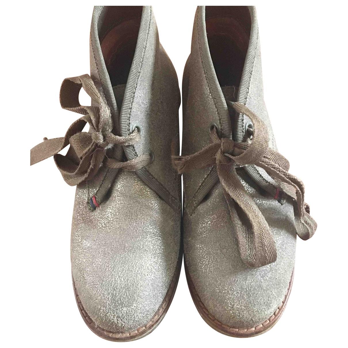 Tommy Hilfiger - A lacets   pour enfant en cuir - marron