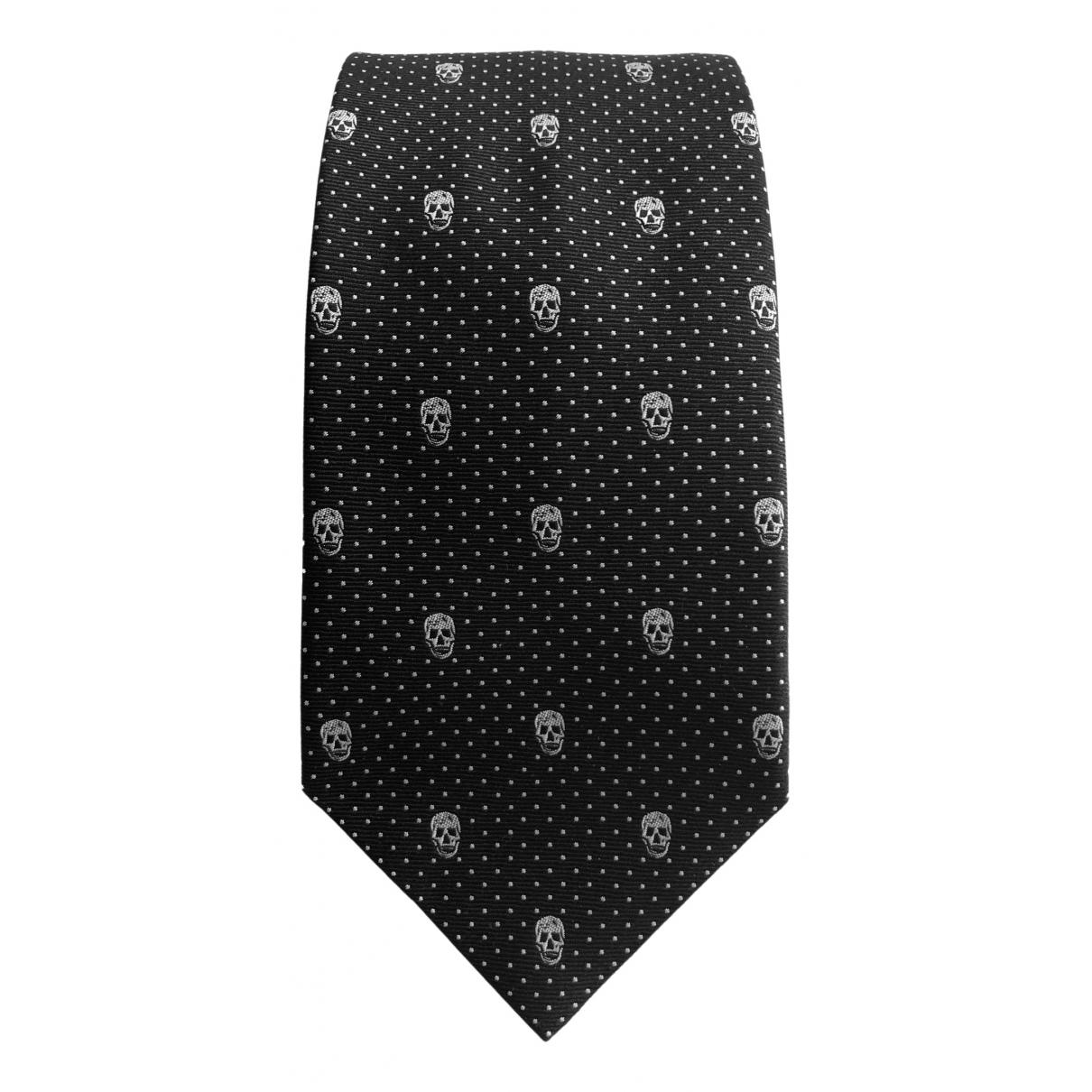 Alexander Mcqueen \N Black Silk Ties for Men \N