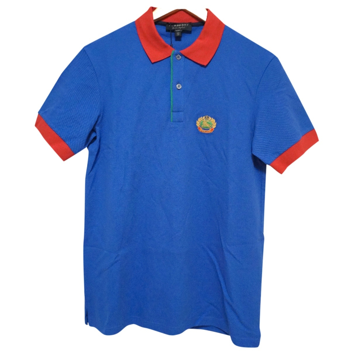 Polo en Algodon Azul Burberry
