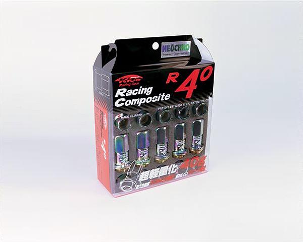 Project Kics R40 M12x1.25 Racing Lug Nuts/Locks NEO Chrome