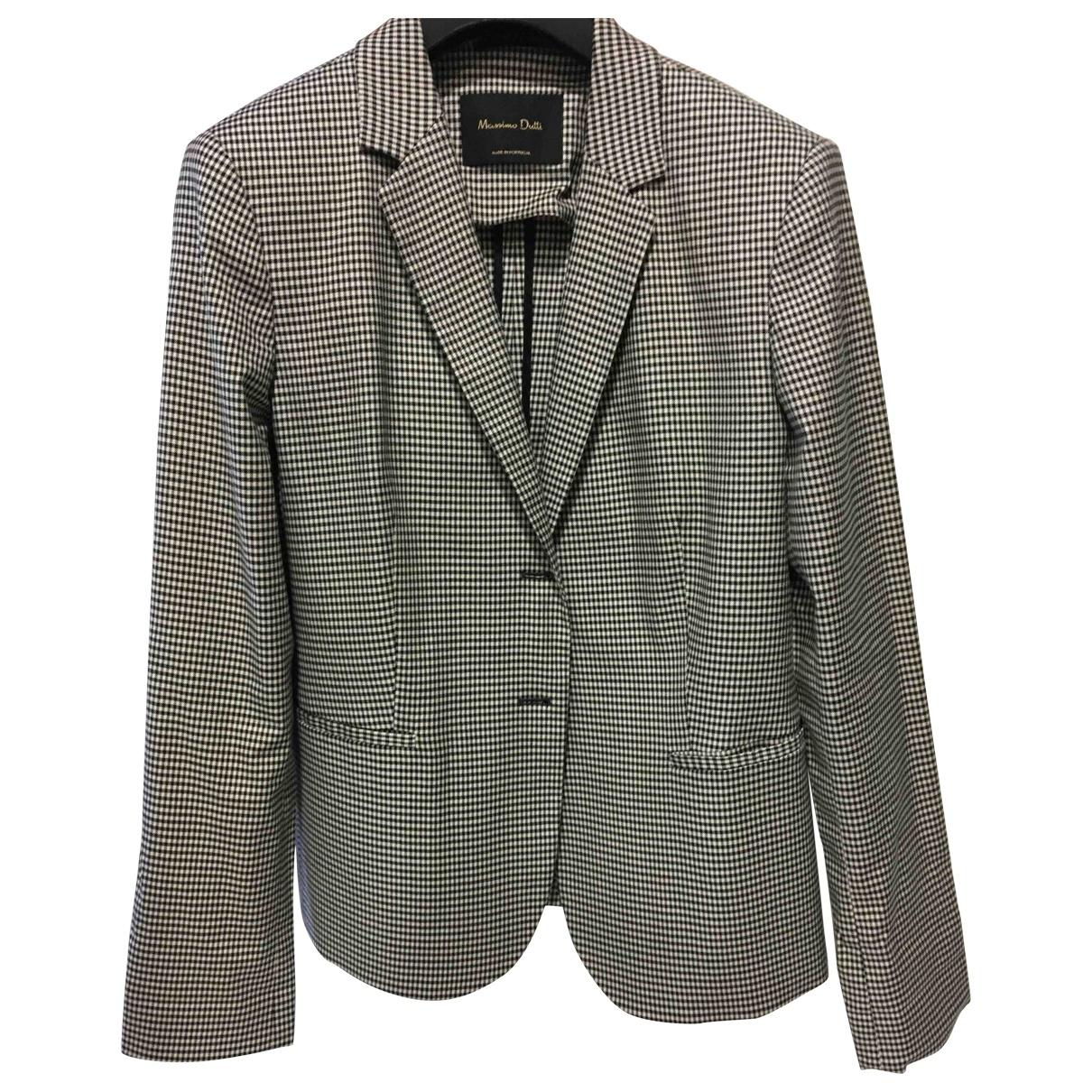 Massimo Dutti \N Jacke in  Schwarz Polyester