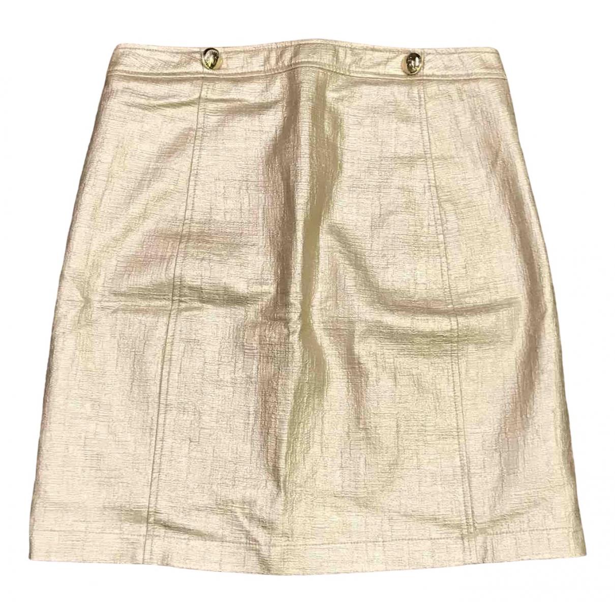 Patrizia Pepe \N Gold Cotton skirt for Women 42 IT