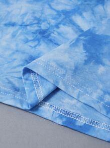 Tie Dye ECG Print Tee
