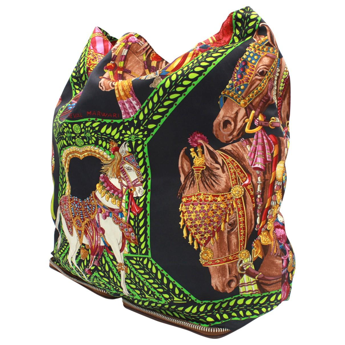 Hermes - Sac a main Silky Pop pour femme en toile - multicolore