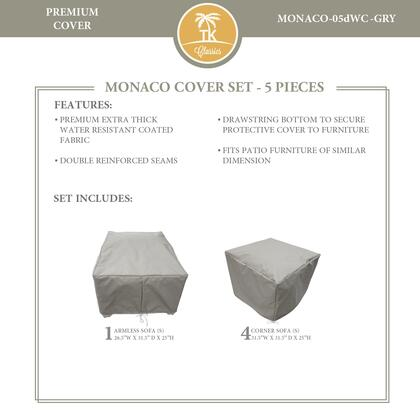 MONACO-05dWC-GRY Protective Cover Set  for MONACO-05d in