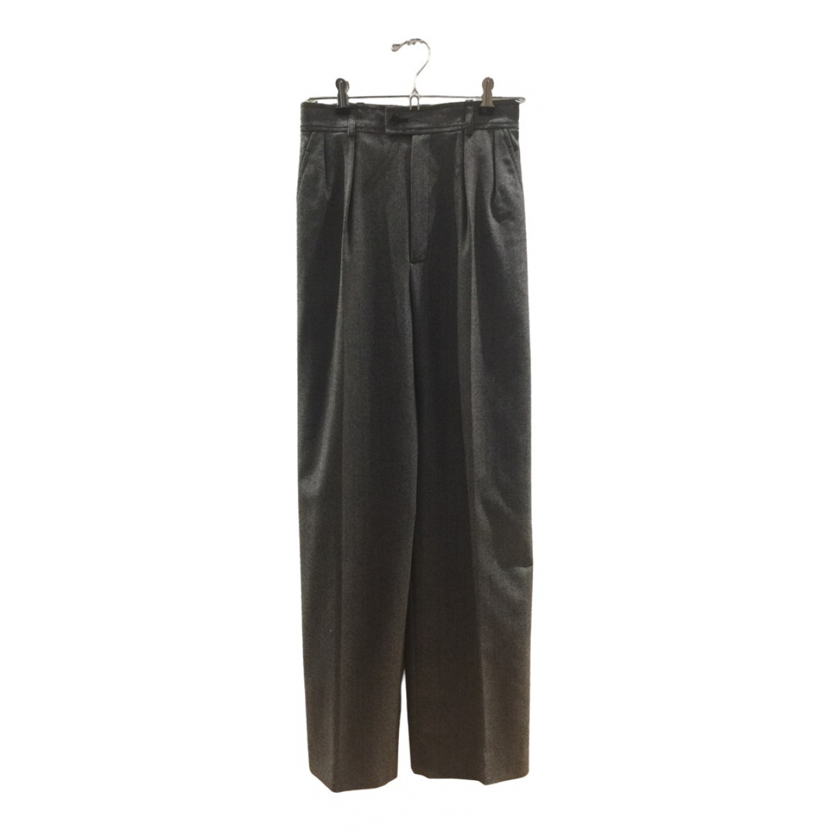 Yves Saint Laurent N Multicolour Wool Trousers for Women 34 FR