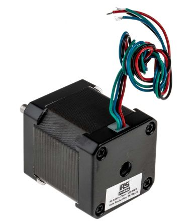 RS PRO Hybrid, Permanent Magnet Stepper Motor 1.8°, 0.44Nm, 2.8 V, 1.68 A, 4 Wires