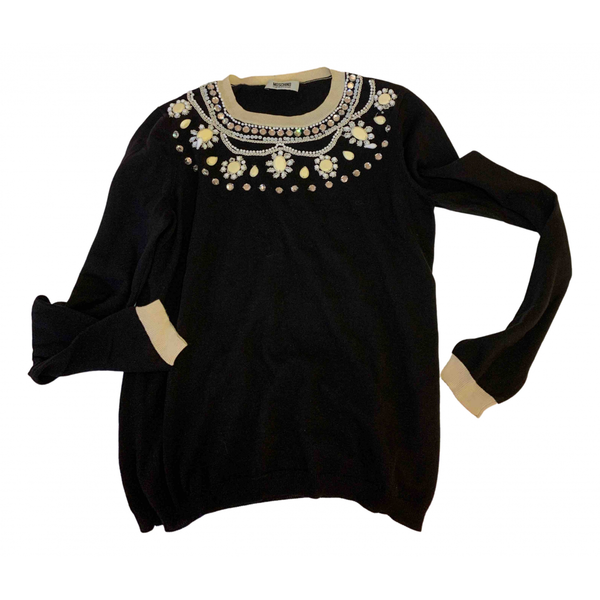 Moschino Cheap And Chic - Pull   pour femme en coton - noir