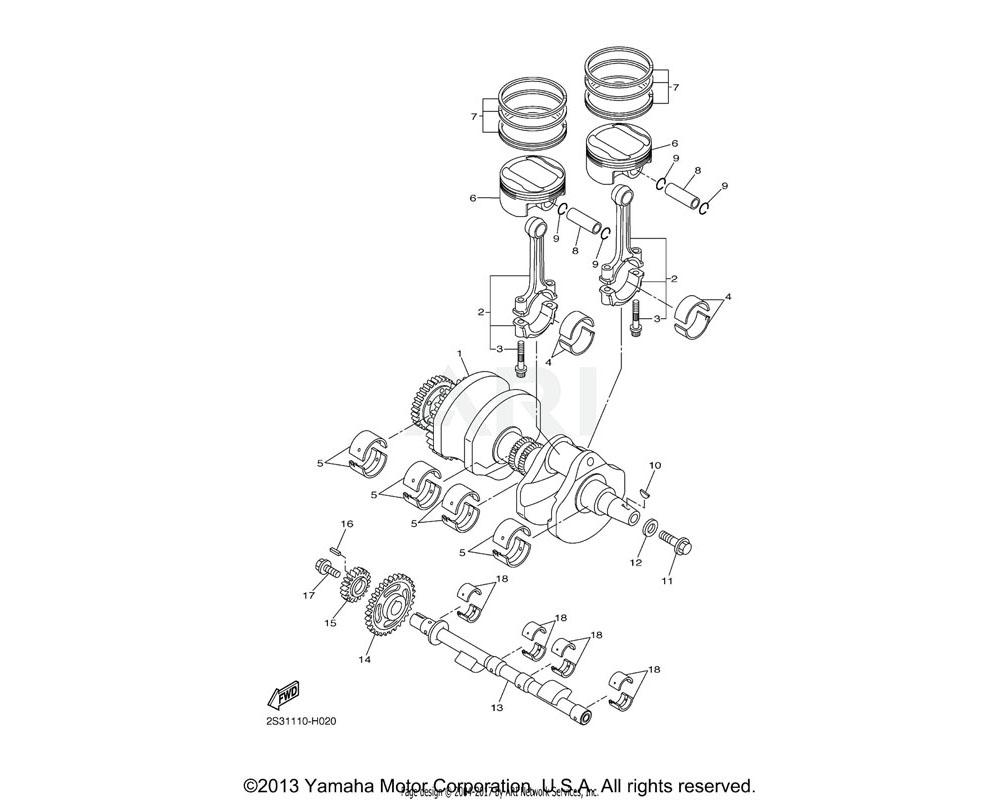 Yamaha OEM 2S3-11531-00-00 GEAR, BALANCE WEIGHT