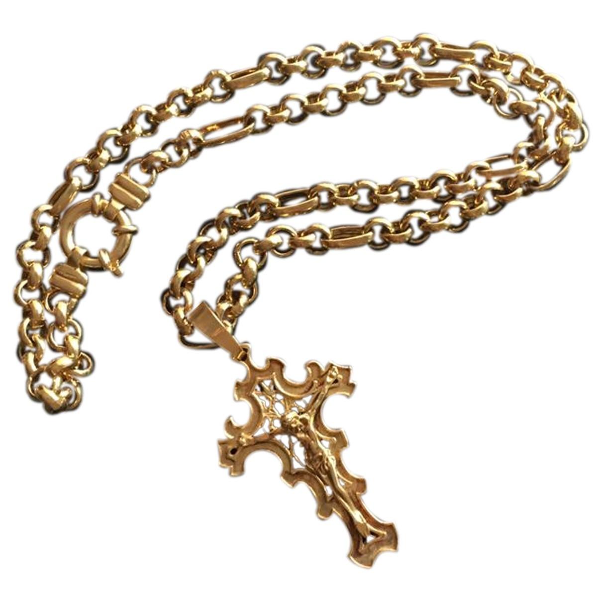 Dolce & Gabbana - Collier   pour femme en metal - jaune