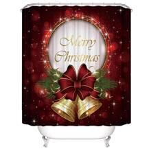 Duschvorhang mit Weihnachten Glocken Muster