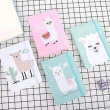 1pack Alpaca Print Cover Random Notebook