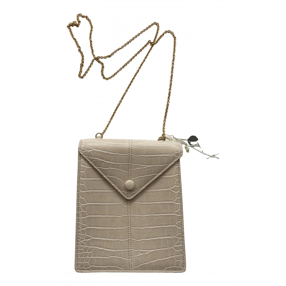 Nanushka \N Handtasche in  Beige Leder