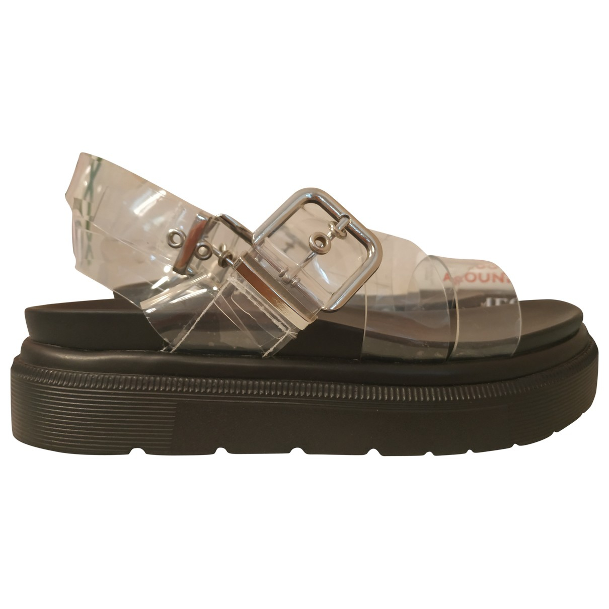 tophop \N Black Sandals for Women 38 EU