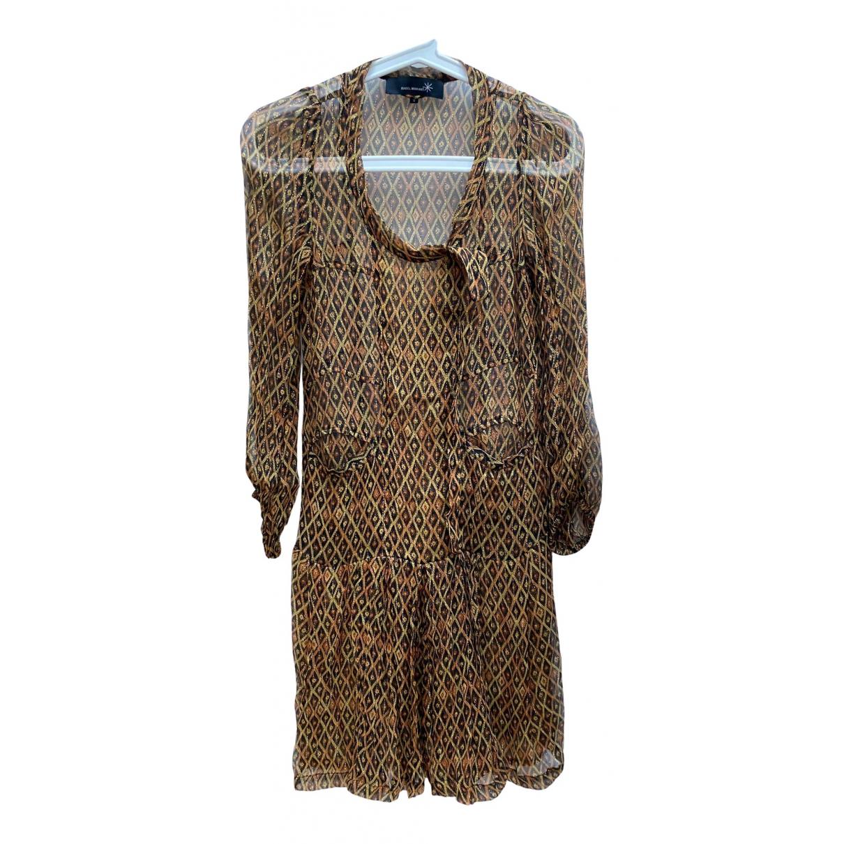 Isabel Marant - Robe   pour femme en soie - dore