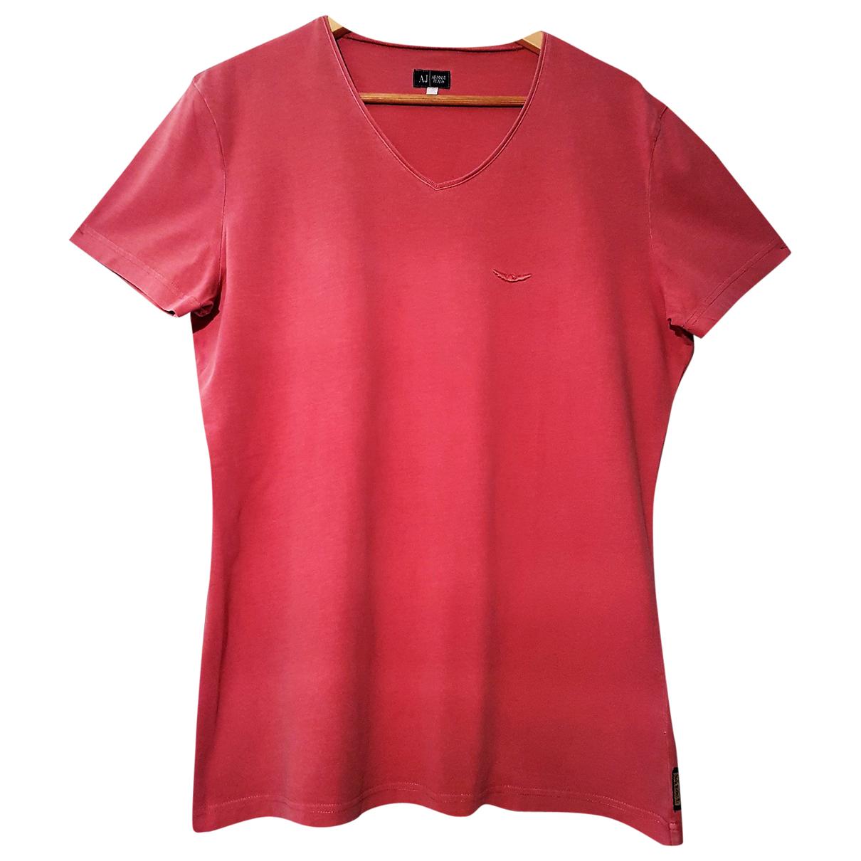 Armani Jean - Tee shirts   pour homme en coton - rouge
