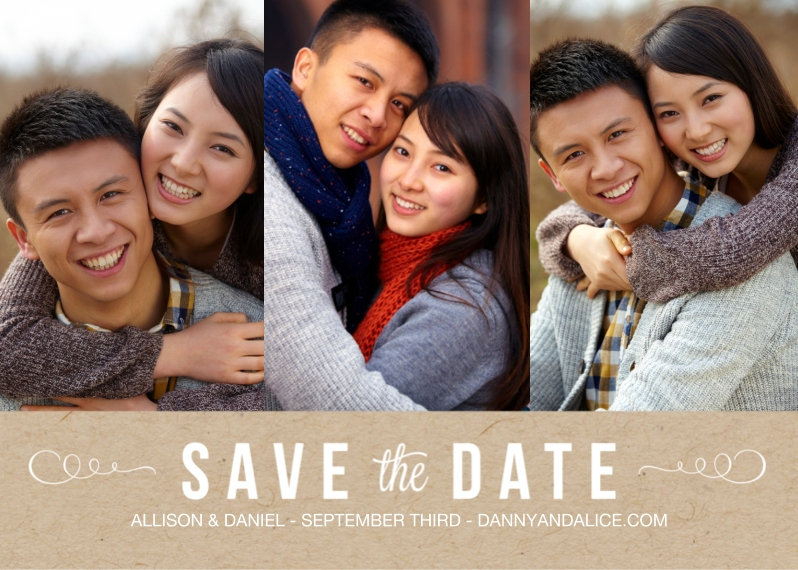 Save the Date Flat Glossy Photo Paper Cards with Envelopes, 5x7, Card & Stationery -Vintage Photograph