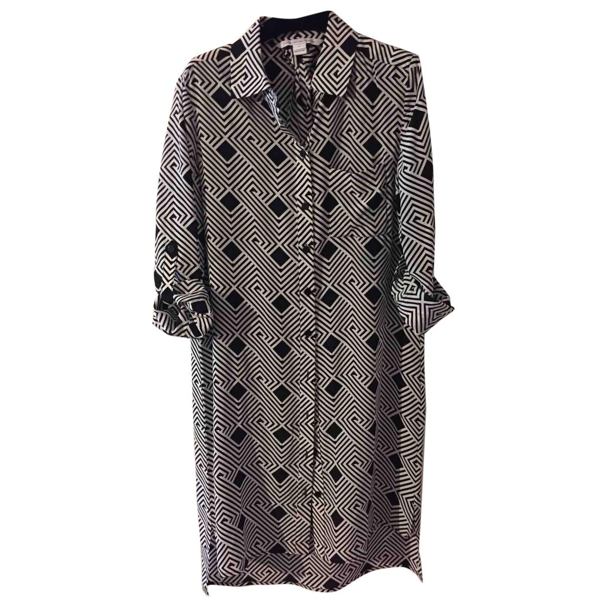 Diane Von Furstenberg \N Grey Silk dress for Women 1 US