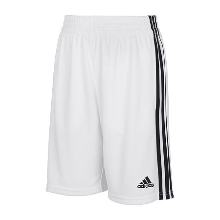 adidas Little Boys Workout Shorts, 6 , White