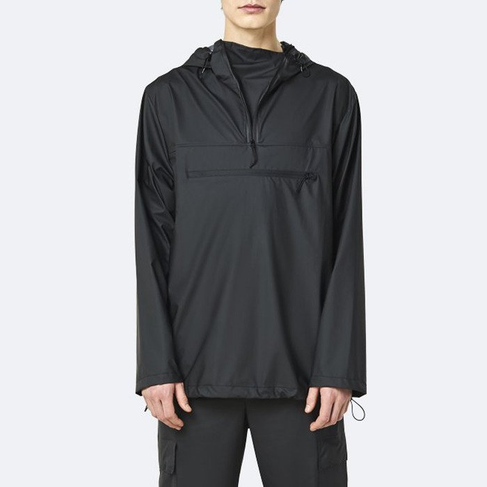 Rains Ultralight Zip Anorak 1828 BLACK