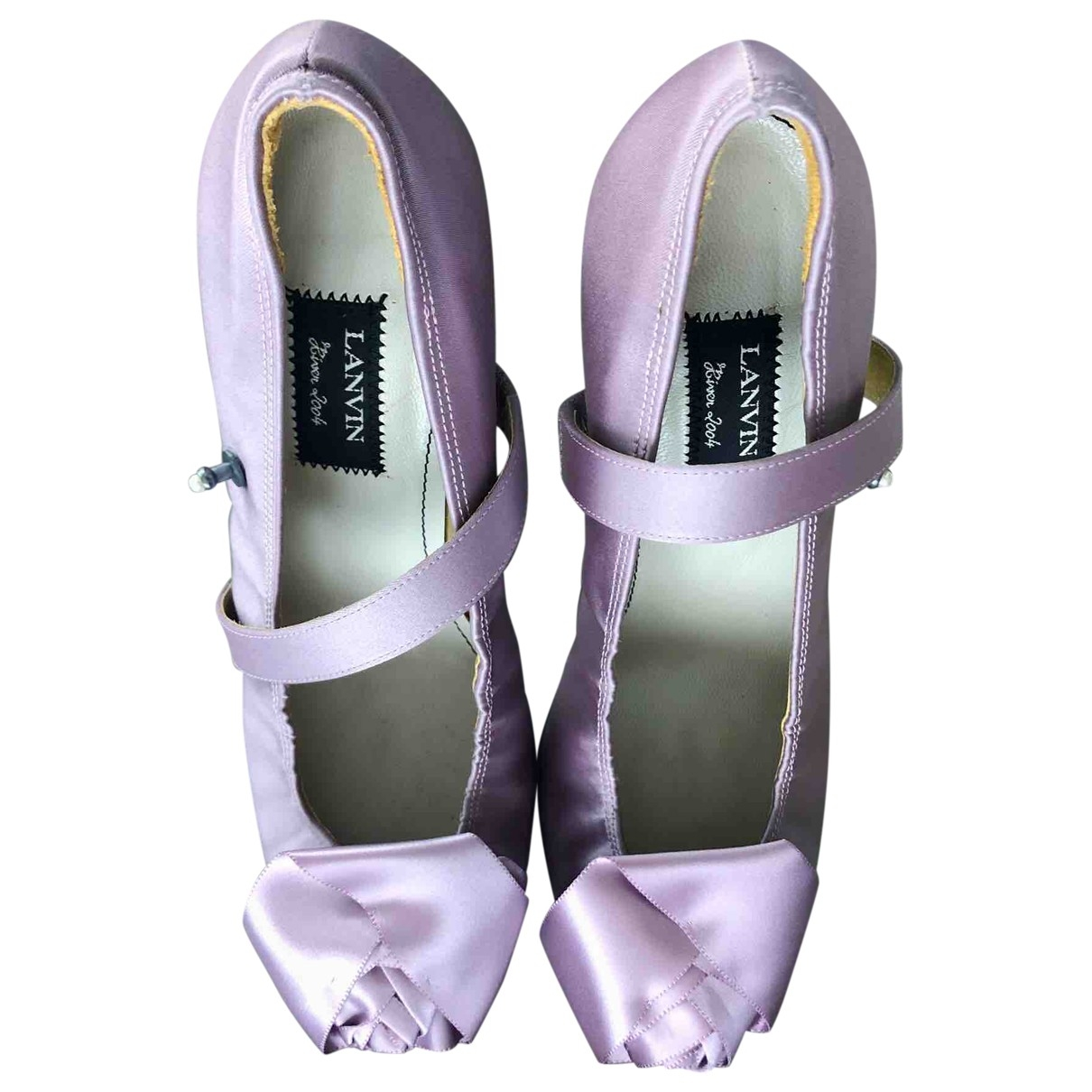 Lanvin \N Purple Cloth Heels for Women 39 EU