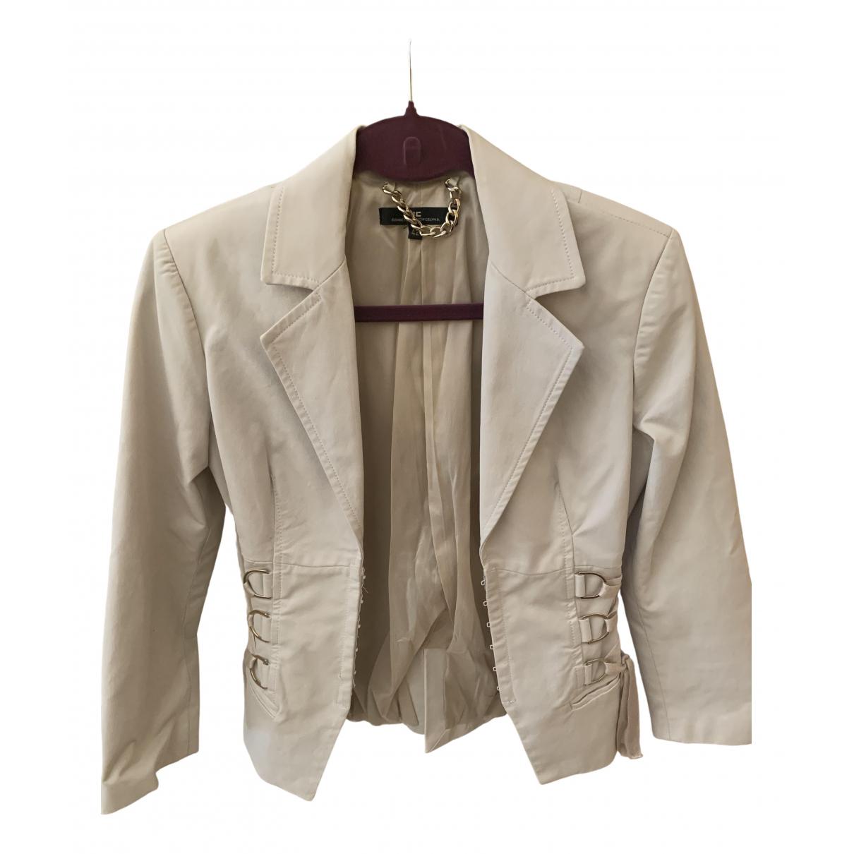 Elisabetta Franchi \N Beige Cotton jacket for Women 42 IT