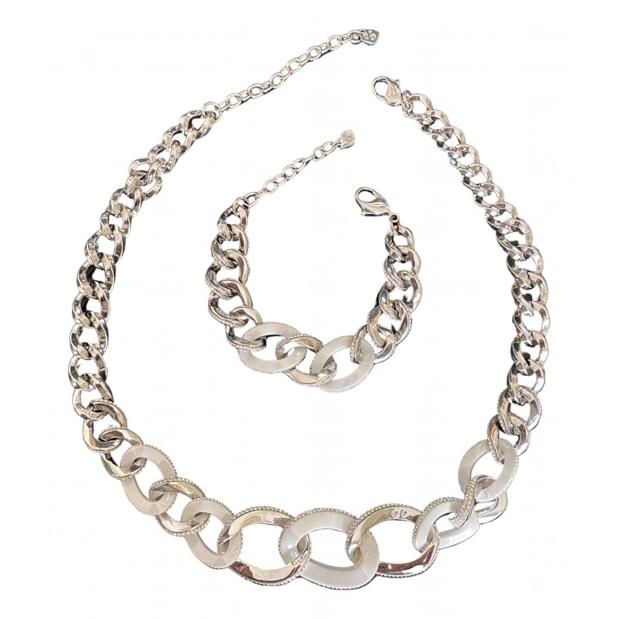 Swarovski \N Schmuck-set in  Silber Metall