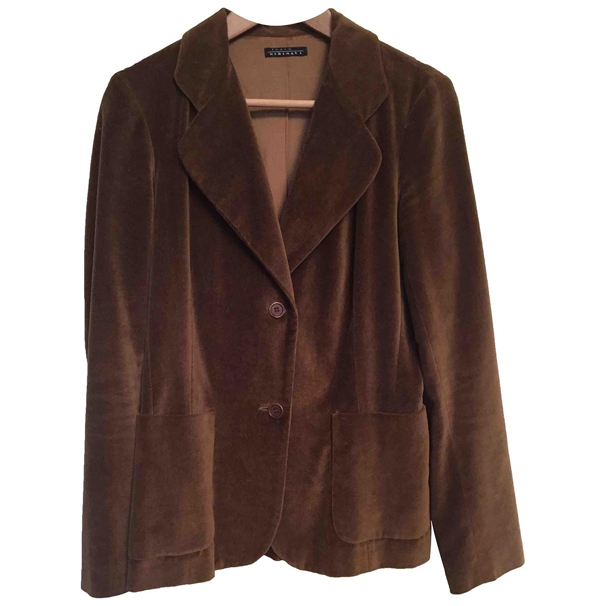 Laura Urbinati \N Camel Velvet jacket for Women 44 IT